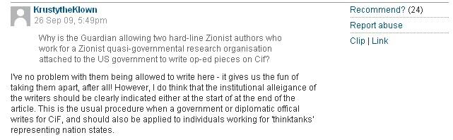 KrustytheKlown antisemitic coment
