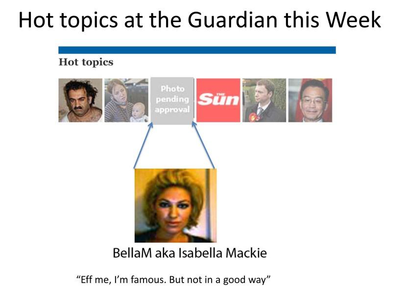 Hot topics at the Guardian this Week