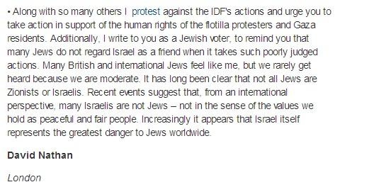 Guardian publishes letter dehumanizing Israeli Jews