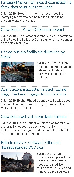 Guardian's Obsession with Israel, June 3, 2010