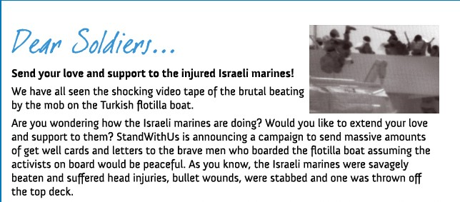 Send a message to the injured soldiers