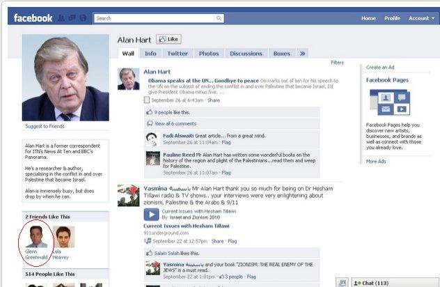 "Glenn Greenwald ""likes"" conspiracy monger, Alan Hart (or does he?)"