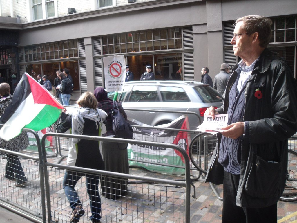 MP Martin Linton returns to anti-Israel activism outside Ahava