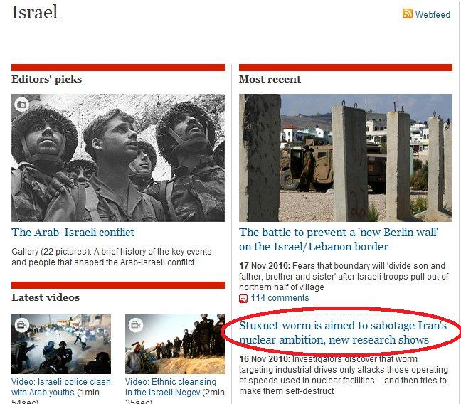 Why was this story in the Guardian's Israel section?