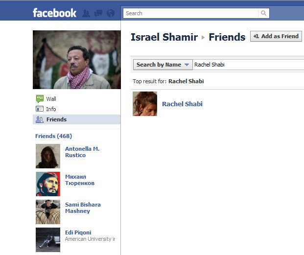 Guardian contributor Rachel Shabi HEARTS Israel Shamir