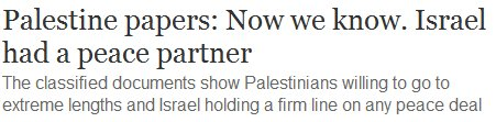 """Guardian's verdict upon release of """"Palestine Papers"""" announced upon publication: Israel Guilty"""