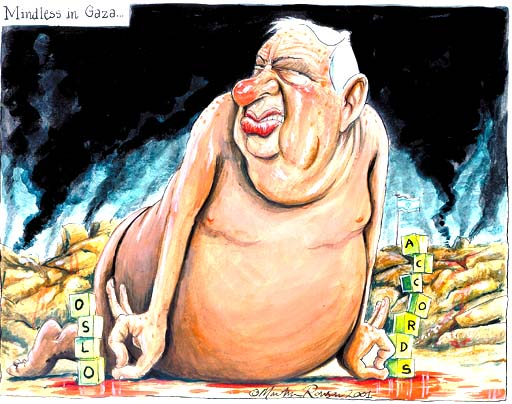 Guardian cartoonist Martin Rowson, and Israel's immutable sin