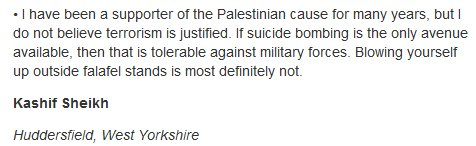 "Guardian ""letters section"" ongoing debate about which Israelis it's moral to kill"