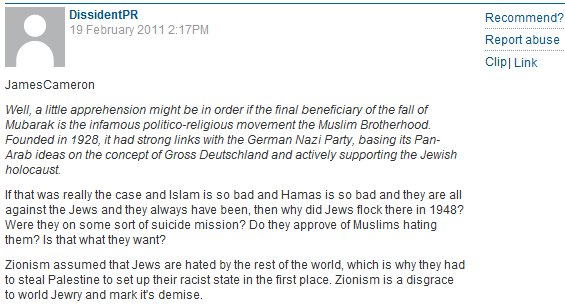 Guardian reader anti-Semitic comment of the day