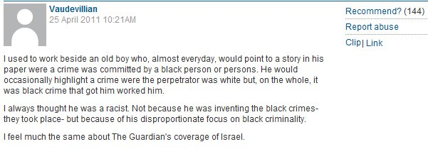 More on Gary Younge's racism, by a Guardian reader