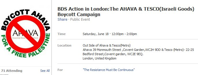 "Anti-Ahava activists accuse Israeli owned store of ""playing the Jew card"""