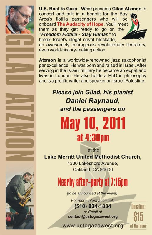 What the Guardian won't report: Notorious anti-Semite, Gilad Atzmon, a featured speaker at flotilla fundraiser