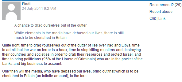Perfect illustration of Guardian's biased moderation when dealing with Israel related reader comments