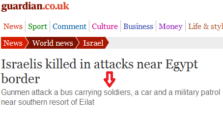 How the Guardian downplays terrorist attack on innocent Israelis