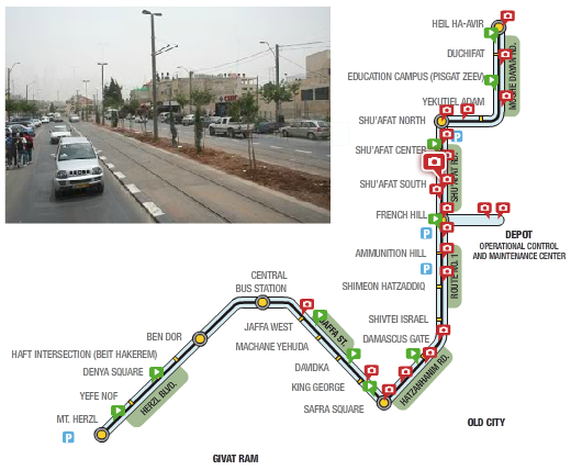 Guardian story characterizes Jerusalem's Light Rail project as a violation of international law