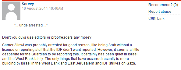 Guardian moderators inexplicably delete comment beneath post by Roy Greenslade
