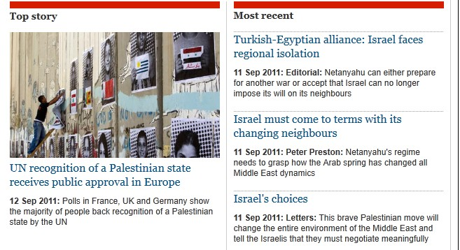 The Monday Morning Guardian Israel Hate Page