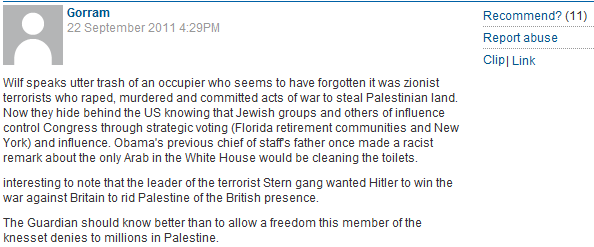Guardian readers claim leading Zionists during WWII rooted for Hitler. Comments not deleted by CiF Moderators