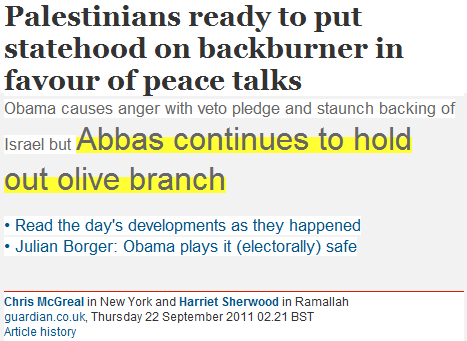 Guardian Newspeak pro-Palestinian Headline of the Day