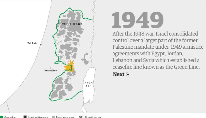 Guardian interactive map rewrites Israeli-Arab history  