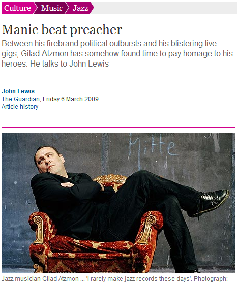 Jew hatred as liberal commentary: Guardian provides platform to vicious antisemite, Gilad Atzmon
