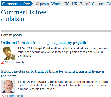 "Why is an essay on alleged Israeli racism in the ""Jewish Belief"" section of 'Comment is Free'?"