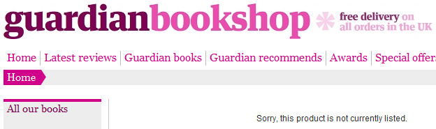 Within 24 hours of CiF Watch post, Guardian removes Gilad Atzmon's book from their online shop.