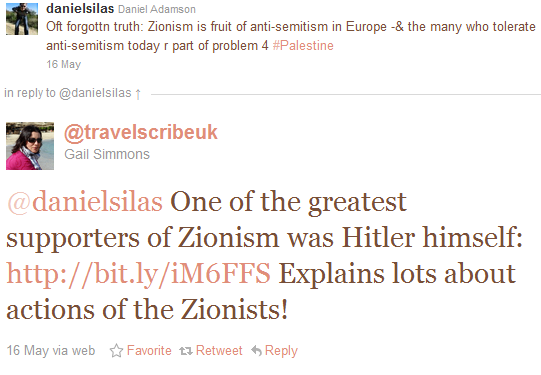 Guardian contributor Gail Simmons Tweets about the Nazism of Zionism