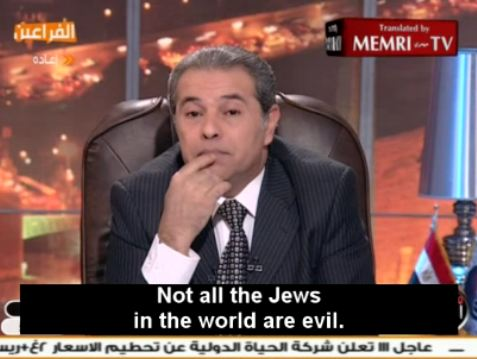 Egyptian Presidential Candidate's Guide to the Morally Perplexed: ONLY 60% of Jews are evil!