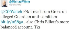 "A Twitter exchange with the Guardian's anachronistic ""dear chap"", Michael White"