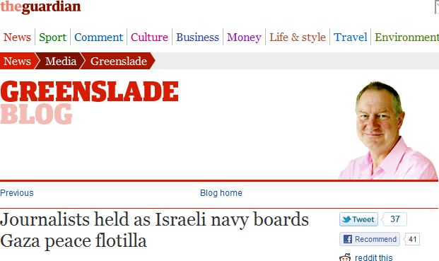 #PropagandaWaves: The Guardian's Roy Greenslade or the 'Free Gaza' Movement?