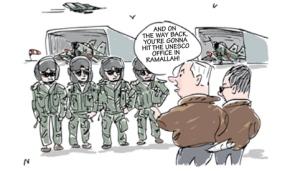 UNESCO feigns outrage over satirical Ha'aretz cartoon
