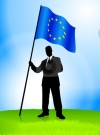 cutcaster-photo-100639624-Businessman-Leader-Holding-European-Union-Flag