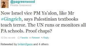 "The Guardian's Phoebe Greenwood Tweets: ""What Palestinian incitement?"""