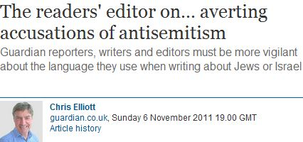 "Another pejorative reference to Jews as ""Chosen People"" by a Guardian contributor"