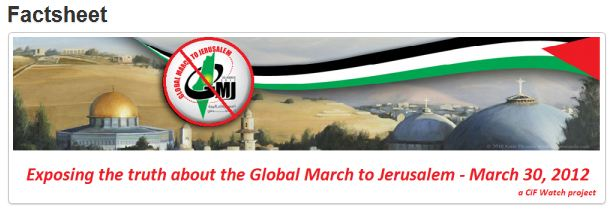 Fact Sheet: Global March to Jerusalem (GMJ), March 30, 2012