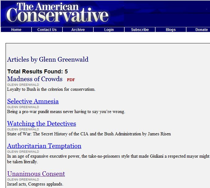 The Guardian-approved American Judeophobic Paleo-Conservatism of Glenn Greenwald