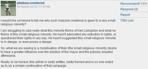 Guardian reader on those uppity British Jews exercizing their political rights