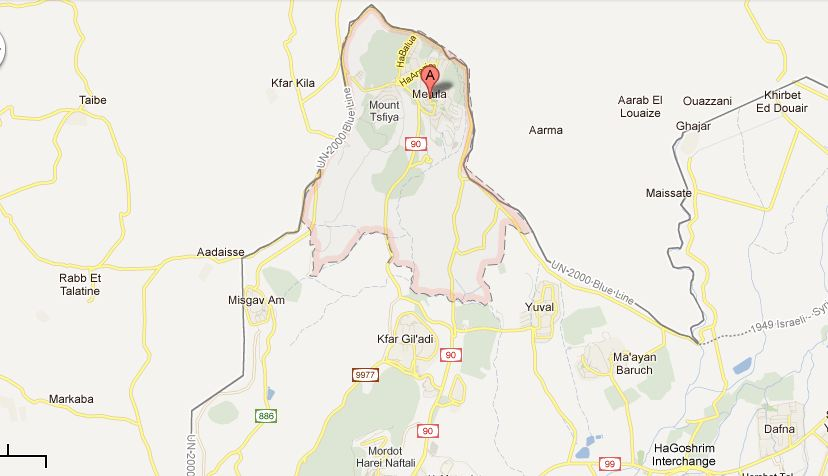 Metula Israel  city photo : Fences: Blogging from Metula @ Lebanese Border, where Global March to ...