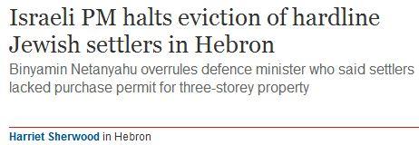 Hebron's Hardline Jewish Settlers! A Harriet Sherwood production