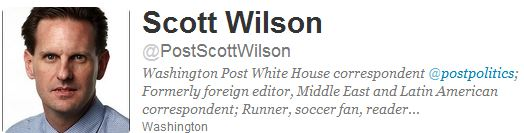 Scott Wilson, The Washington Post's anti-Israel attack dog: Slouching towards Harriet Sherwood?