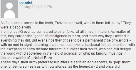 Guardian reader's analysis of Jews' pathos