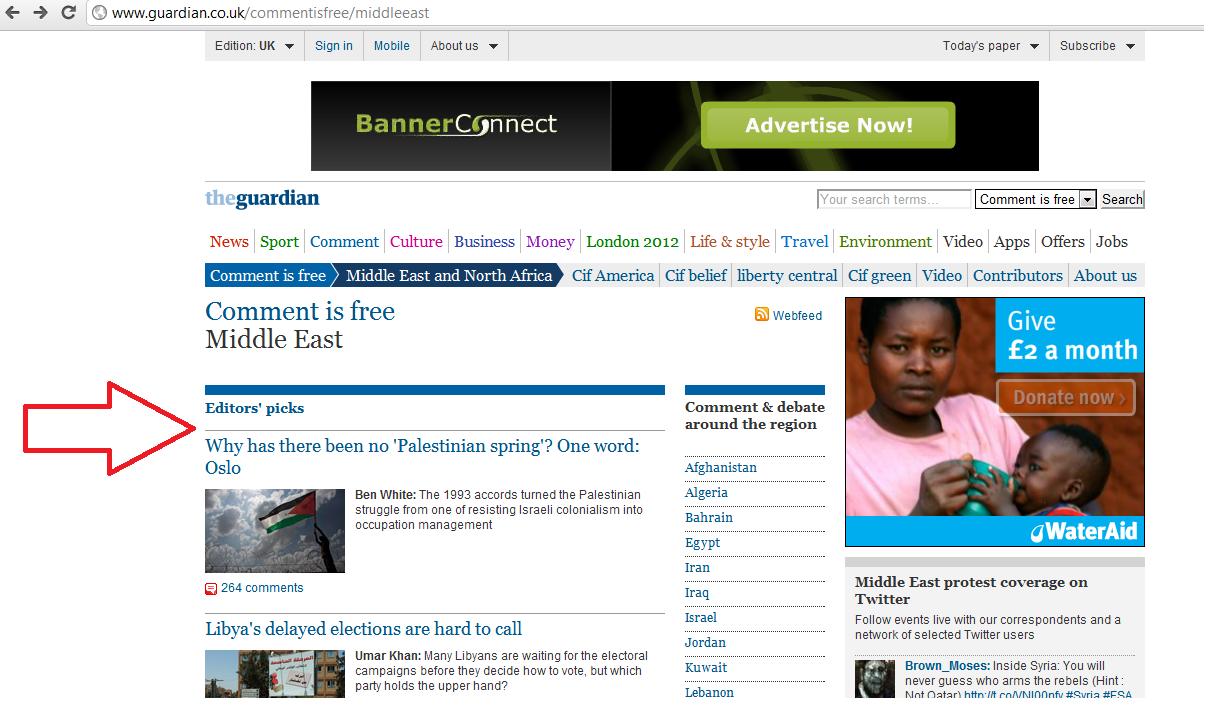 Guardian 'Editor's Pick': Ben White's ahistorical babblings