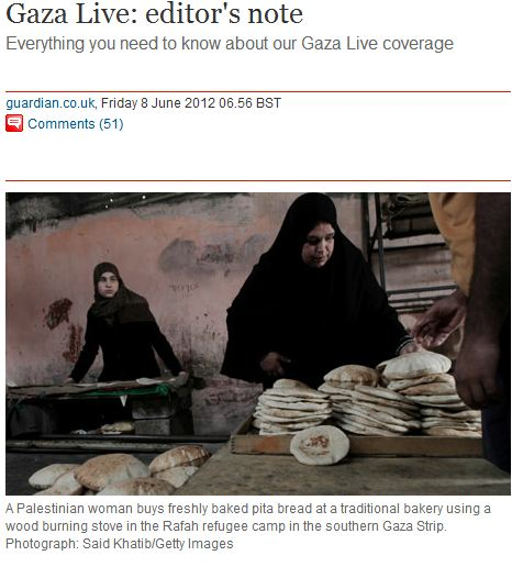 Guardian editor's note to Live Gaza Blog: Palestinian 'Refugees' yesterday, today & forever