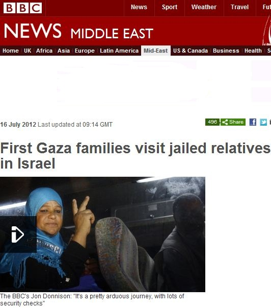BBC celebrates with Palestinian prisoners: Reunited, and it feels SO good!