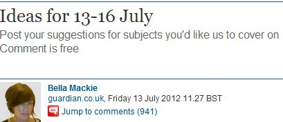 Guardian reader comment of the day: On the trolling & strange beliefs of CiF Watch conspirators