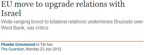Phoebe Greenwood's anonymous EU diplomat despairs at trade upgrade with Israel: #BDSFAIL