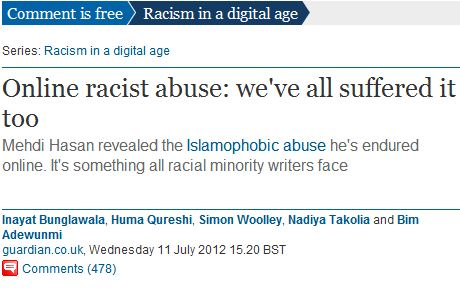 CiF asks Inayat Bunglawala, ally of antisemitic extremists, to comment on dangers of racism