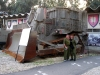 A D9 bulldozer of the type Rachel Corrie chose to approach.