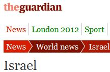 Overview of Guardian coverage of Israel, July 2012